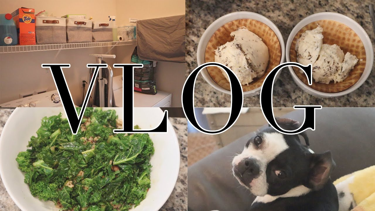 VLOG - Cooking, Eating and Laundry Room Organization