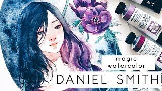 DANIEL SMITH WATERCOLOR review and speedpaint -ОБЗОР АКВАРЕЛИ DANIEL SMITH-