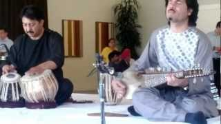 Ustad Homayoun Sakhi playing a classical composition in teentaal