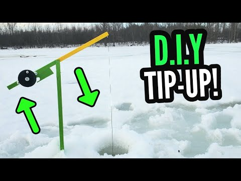 D.I.Y ICE FISHING TIP UPS! - Easy And Inexpensive!