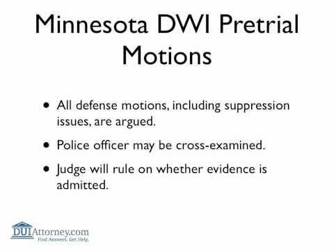 Minnesota DWI Court Process Explained