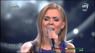 "Monika Linkytė ""You Found Me"" @ Lithuania in the Eurovision Song Contest 2014"