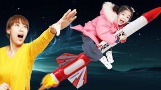 누가 더 멀리 쏠까요?!! 서은이의 로켓 멀리쏘기 엄마랑 대결 타요 공구 개조 Rocket Launch Contest with Mommy