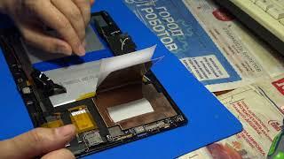 digma CITI 1802 3G планшет - замена батареи ЧАСТЬ 2/2