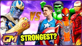 Avengers Kids Vs Thanos - Who Is The Strongest?