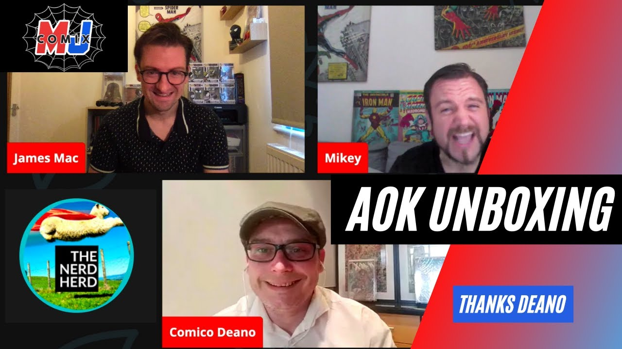 AOK Unboxing with Deano (The Nerd Herd Comic Book Club)
