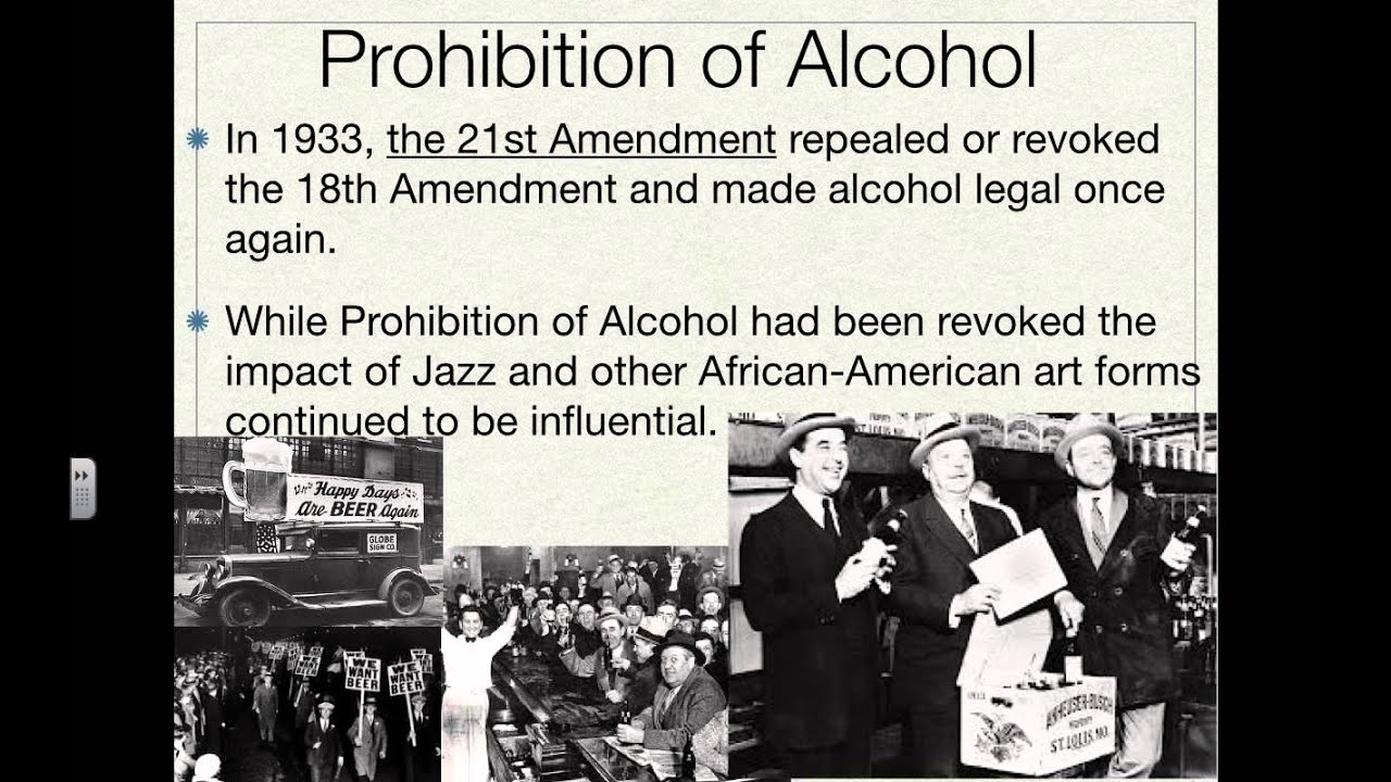 prohibition eighteenth amendment to the united The amendment to the united states constitution that prohibited the the 21st amendment officially ended prohibition by repealing the 18th amendment in december of.