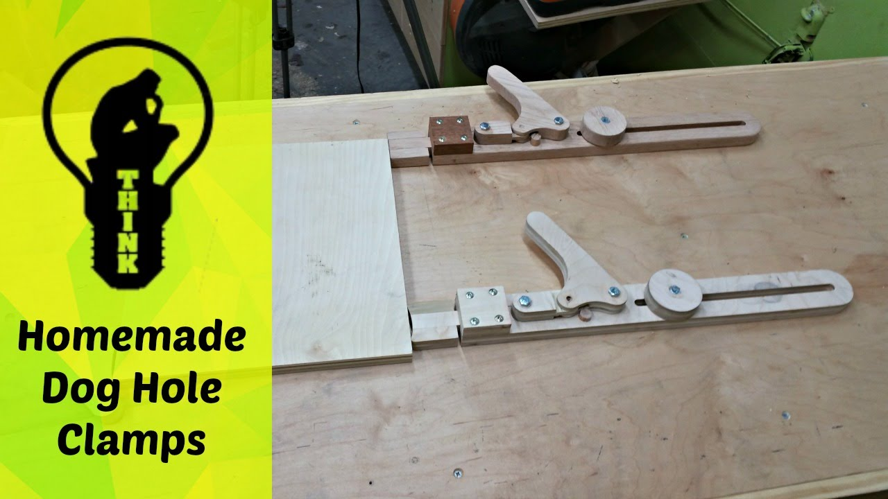 Homemade Wooden Clamps For Dog Hole Bench How To Youtube
