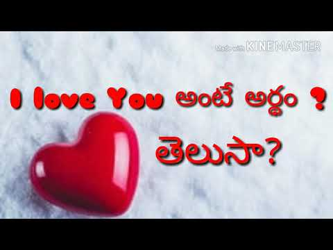 I sure love you meaning in telugu