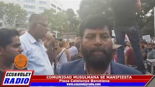 LIDERES DE LA COMUNIDAD MUSULMÁN SE MANIFIESTAN