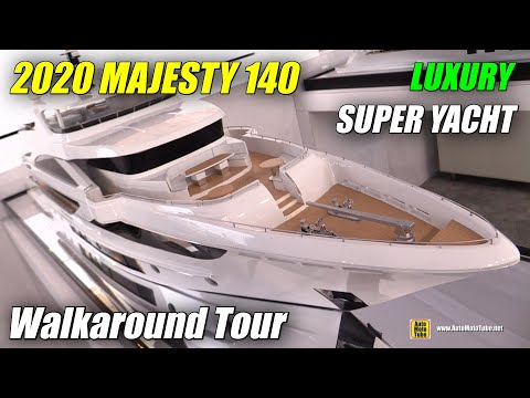 2020 Majesty 140 Super Yacht - Walkaround Tour - 2020 Miami Yacht Show