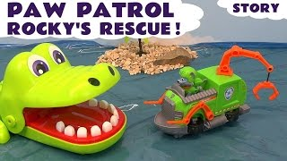 Paw Patrol Episode Rocky 's Rescue Nickelodeon KIds Toys Story with Minions Shark and Crocodile TT4U
