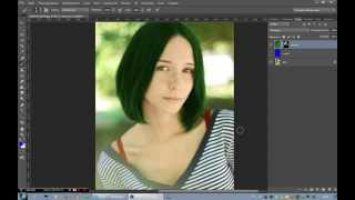 Как изменить цвет волос в программе Photoshop CS6