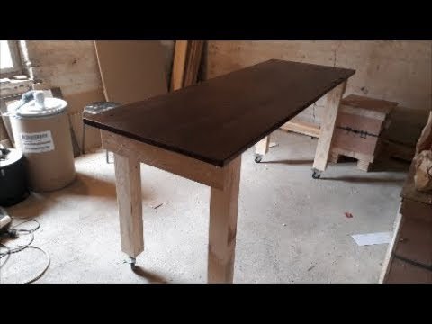 DIY workbench from reclaimed wood