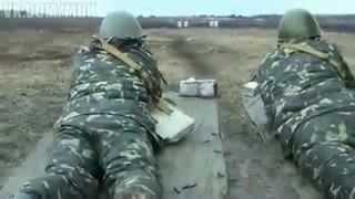 Тренировка военных сил Украины