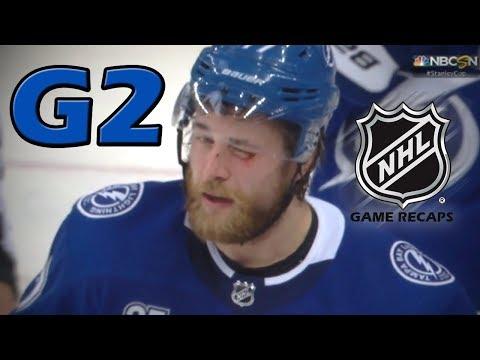 Boston Bruins vs Tampa Bay Lightning. 2018 NHL Playoffs. Round 2. Game 2. 04.30.2018. (HD)