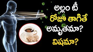 అల్లం టీ రోజూ తాగితే అమృతమా? విషమా? | Health Tips Ginger Tea-Anti Accidents Resistence