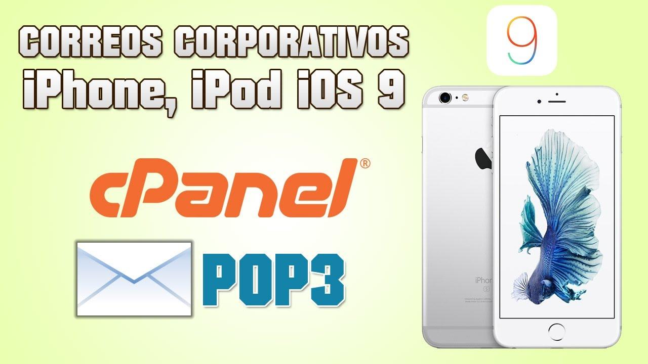 Configurar Correo Corporativo En Ios 9 Iphone 6s Iphone 6 Ipod