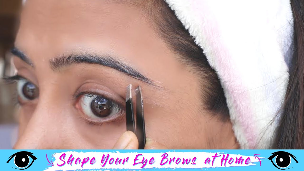 How to Shape EYEBROWS at Home   NO PAIN, EASY and SIMPLE #FashionByGirly