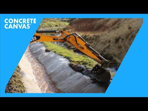 Glyncorrwg Mine Water Drainage Channel Lining