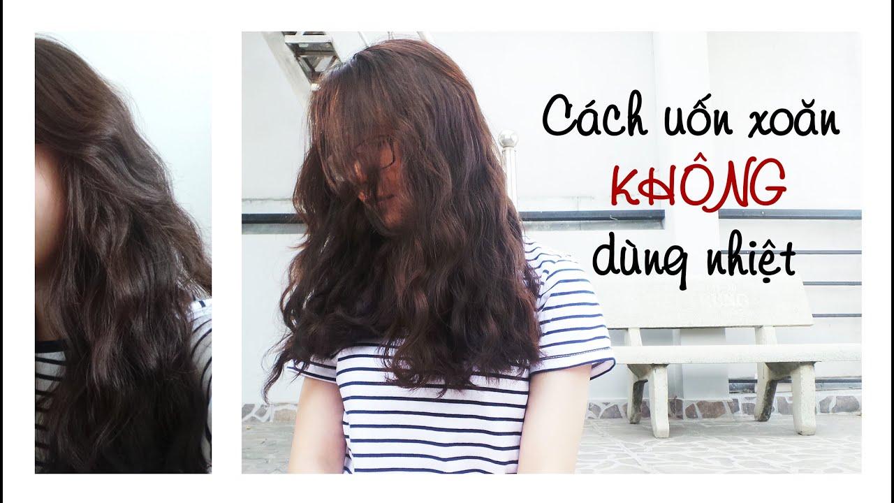[HAIR] Heatless curls with 2 elastics | Uốn tóc xoăn không nhiệt