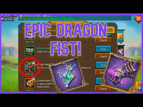 Opening Blackwing Chest And Upgrading My Dragon Fist To Purple! | Lords Mobile