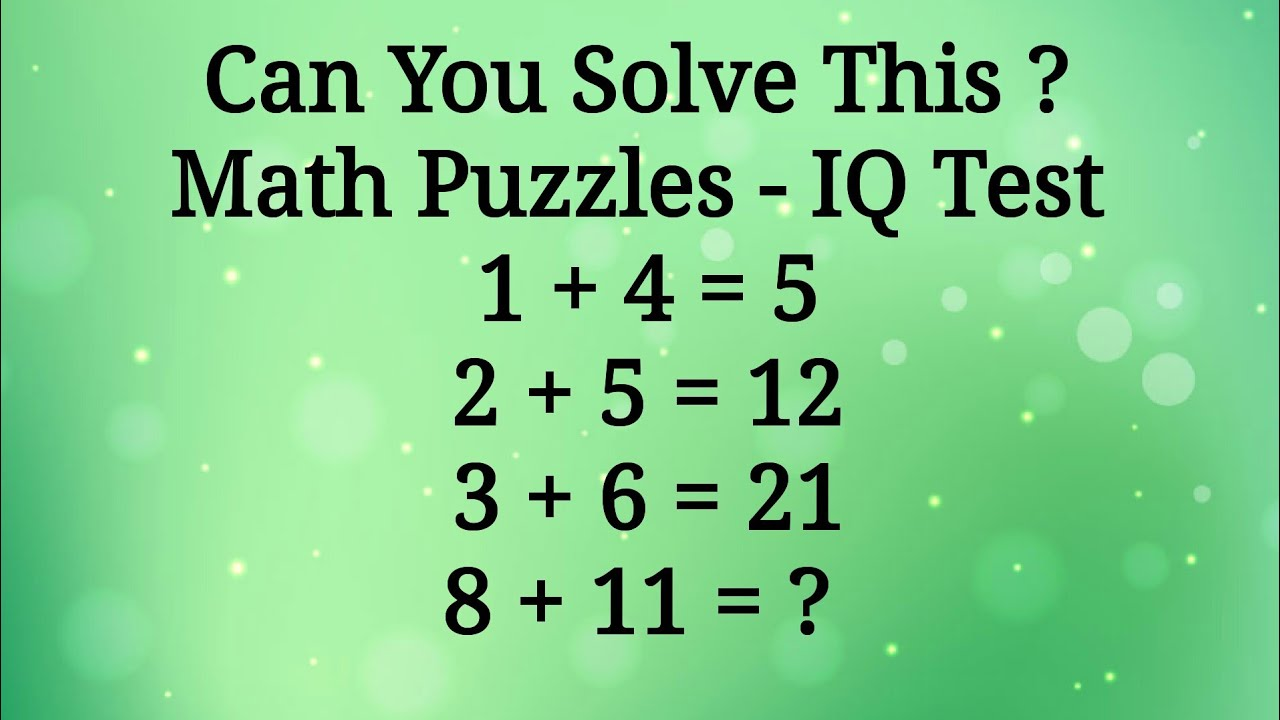 Math Number Puzzles - IQ Test   Can You Solve This   Math Paheli Challenge Quiz   Mahipal Rajput - YouTube