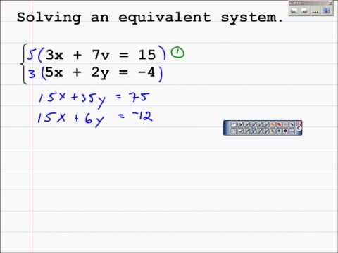 How to Solve a System of Equations with the Multiplication Method 3 2
