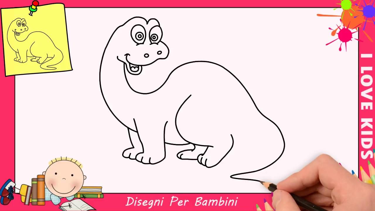 Disegno Dinosauri Per Bambini.Come Disegnare Un Dinosauro Facile Passo Per Passo Per Bambini 4