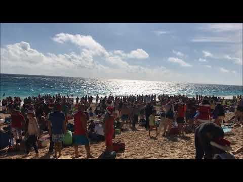 Christmas Day At Elbow Beach in Bermuda, Dec 25 2017