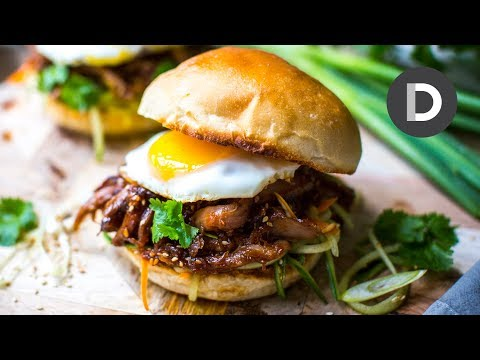 Sticky Hoisin Duck Burger!