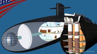 【ミサイル原子力潜水艦の内部】最高機密・オハイオ級の艦内構造はどうなっているのか?