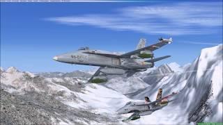 Spanish Air Force F-18 flying in Axalp FSX
