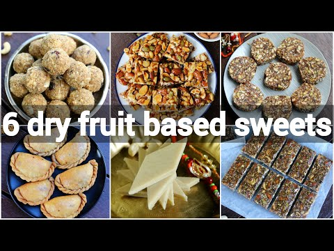 6 dry fruit sweet recipes | no sugar indian sweets recipes | sugar less indian desserts