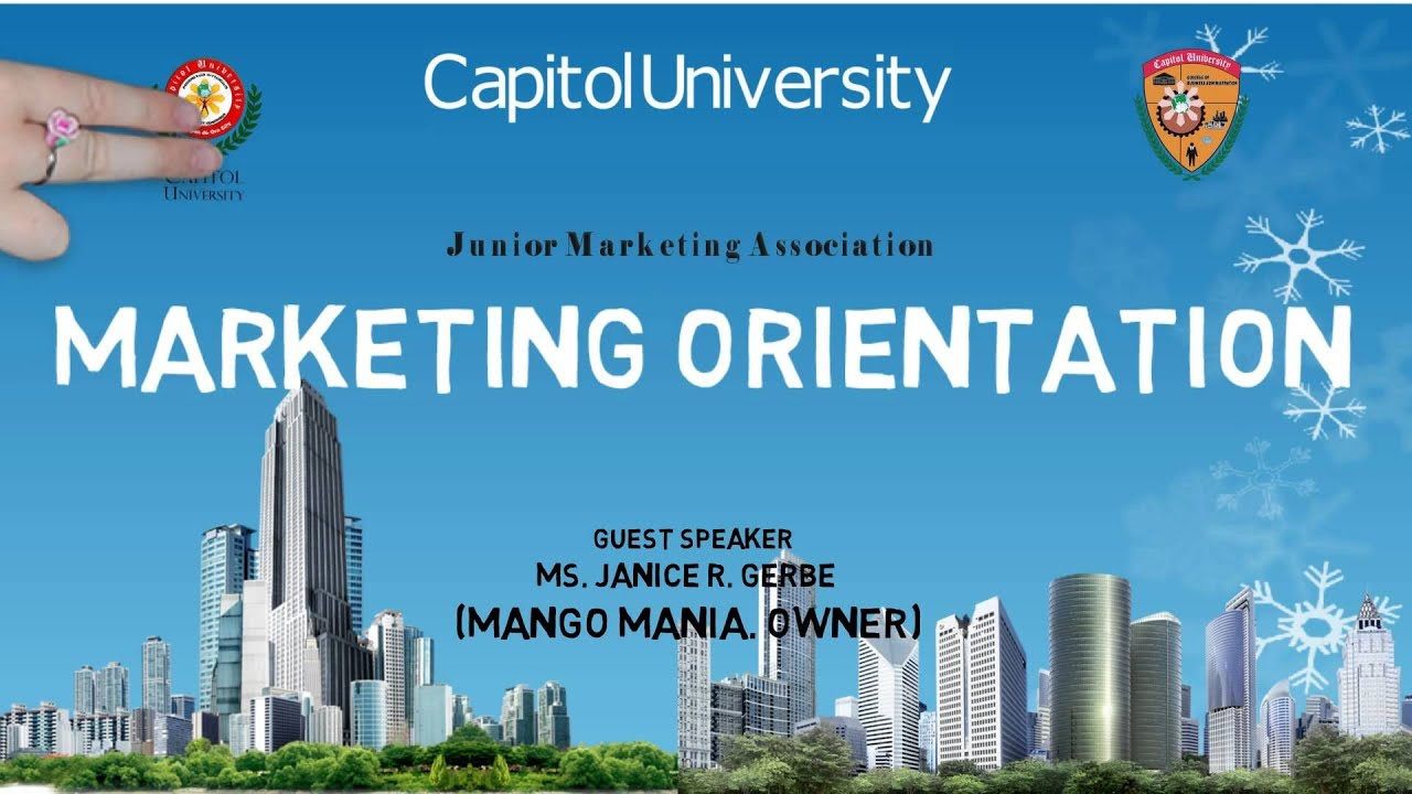 the marketing orientation An organisation that develops and performs its production and marketing  activities with the aim of satisfying the needs of its customers is market oriented.