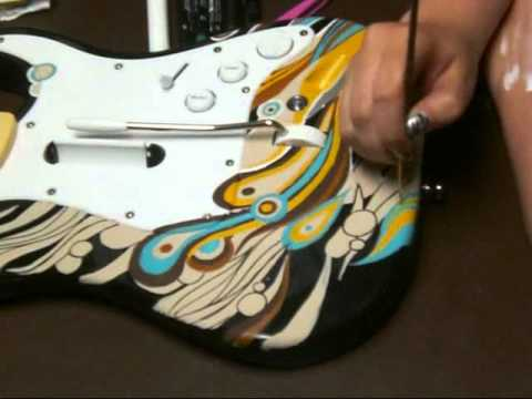Custom Painted Rock Band Guitar Time Lapse Speed Paint