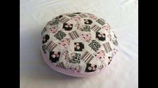 #DIY Round Pillow | Round Cushion | tutorial