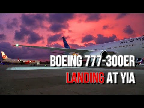 Pendarata Perdana Boeing 777 300ER Di Bandara YIA Jogja