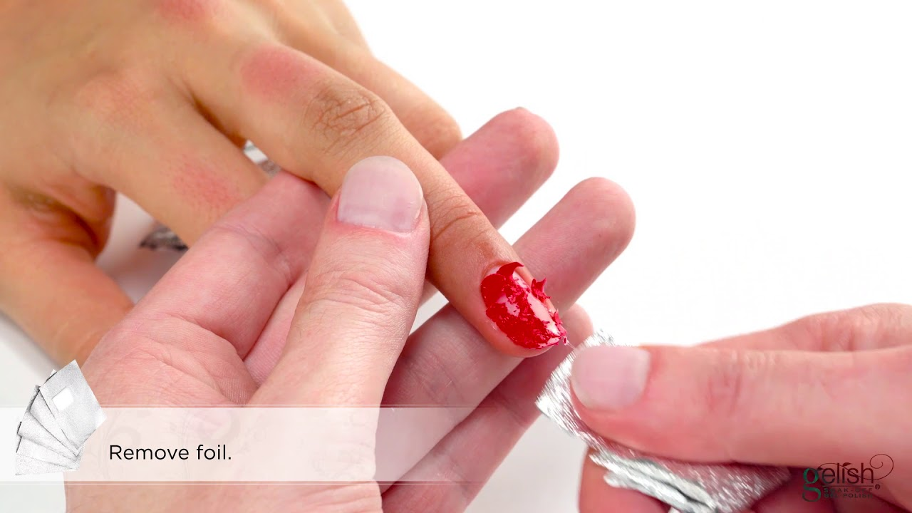 Gelish Step By Step : Removal