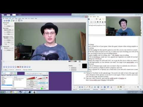 """How To: record """"Let's Plays"""" for YouTube with OBS and Free software"""