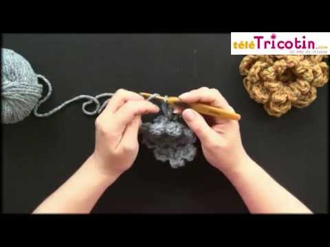 Crochet Fleur Tres Simple A 8 Petales Youtube