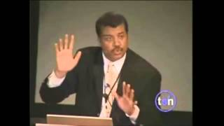 Repeat youtube video Neil deGrasse Tyson- Debunks Creation (Intelligent Design)