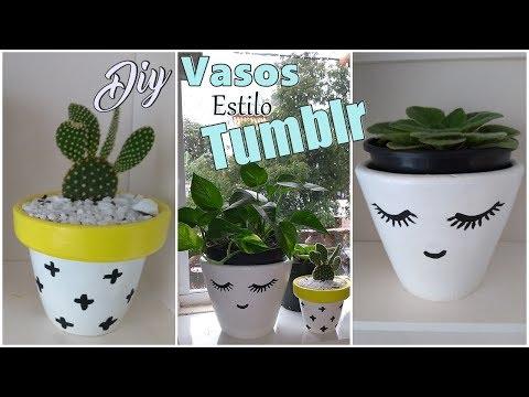 FAÇA VOCÊ MESMO  - Vasos De Planta Estilo Tumblr | Lidy Artesanato