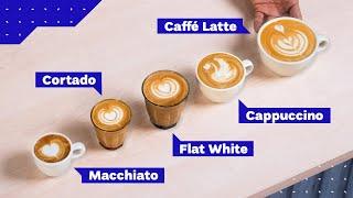 All Espresso Drinks Explained: Cappuccino vs Latte vs Flat White and more!