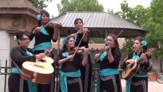 All Woman Mariachi Buenaventura on Santa Fe Plaza - Perfoming for a Wedding