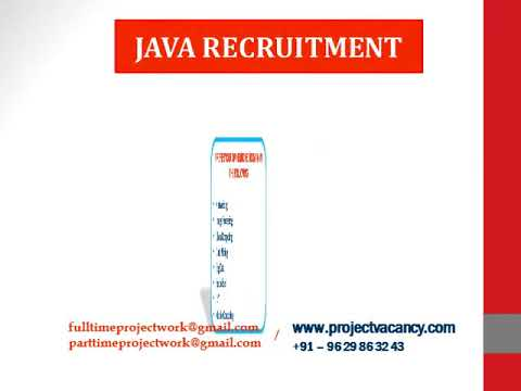 JAVA Recruitment | Project Vacancy