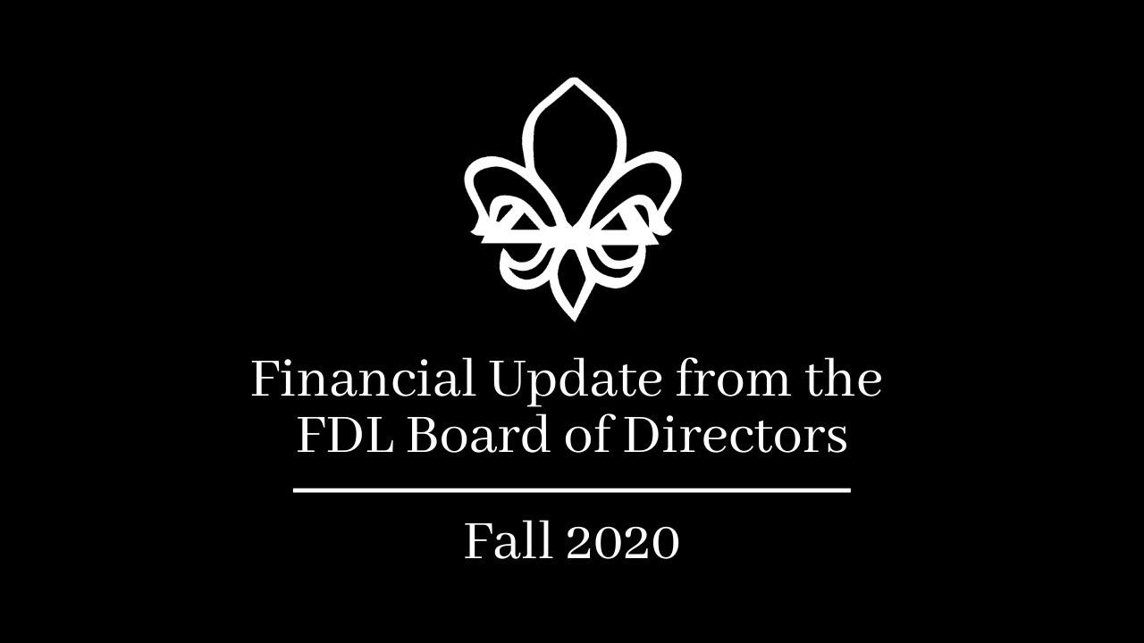 Financial Update | Fall 2020