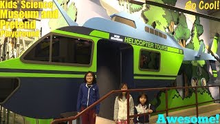 Children's Indoor Pretend Playground and Science Museum. Educational Place for Kids. Hulyan and Maya
