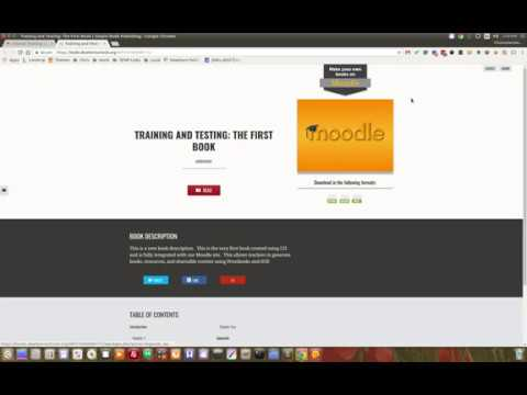 Moodle in English: Moodle Books or PDFs?