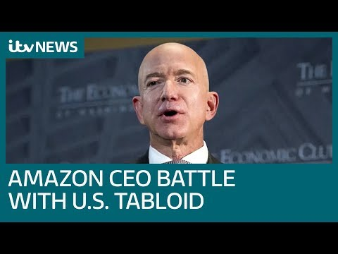 Amazon CEO Jeff Bezos accuses US tabloid of extortion and blackmail | ITV News Mp3